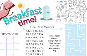 kids placemats printable placemats for kids activities for breakfast