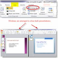apply powerpoint template from one presentation to another