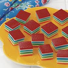 jello salad recipes for thanksgiving rainbow gelatin cubes recipe taste of home