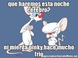 Pinky Meme - que haremos esta noche cerebro ni mierda pinky hace mucho frio