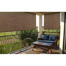 Roll Up Sun Shades For Patios Radiance Roll Up Sun Window Shade Baja Cocoa Walmart Com