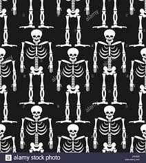 repeating background halloween skeleton seamless pattern bones and skull ornament ornament of