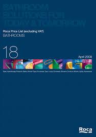 roca bathrooms price list by shai koria issuu