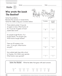 math word problems for 3rd grade worksheet of fractions