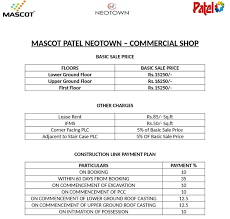 patel neotown shop price floor plan noida extension