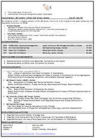 latest cv template example template of an excellent icwa and m com resume sample with