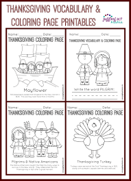 thanksgiving vocabulary coloring printables juggling