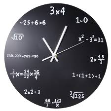 compare prices on mathematics wall online shopping buy low price large creative wall clock mathematics blackboard pop quiz clock modern design big wall watches for living