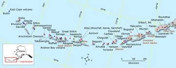 map of aleutian islands kodiak history aleutians