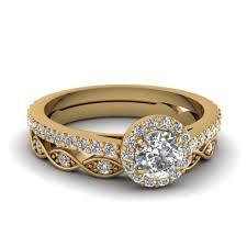 gold wedding ring sets cut diamond wedding ring sets yellow gold platinum rings