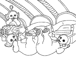 teletubbies coloring pages fall down for kids printable free
