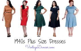 Plus Size Websites For Clothes Vintage Style 1940s Plus Size Dresses