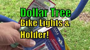 dollar store bike lights with holder