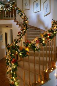 Christmas Garland Decorating Ideas by 2015 Christmas Stairs Decoration Ideas From Lovechristmas