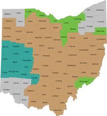 map of counties in ohio ohio county map ohio energy project