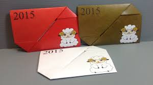 new years envelopes origami new year sheep gift envelope print your own