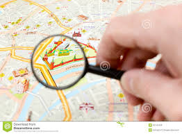 Moscow Map Moscow Map Detail Focus On Moscow Kremlin Editorial Photo