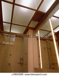 Mirrored Wall Panels Stock Photograph Of Lighted Opaque Glass Ceiling Panels In Modern