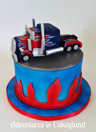 optimus prime cakes transformers optimus prime truck cake by adventures in cakeyland