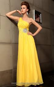 one shoulder short yellow prom dresses dress images