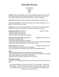 Bullet Points In Resume Bcn Script What Should A Hairstylist Resume Look Like