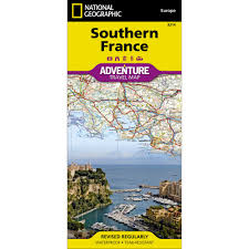 South Of France Map by Southern France Adventure Map National Geographic Store