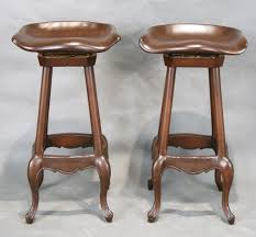 Bar Stool With Cushion Shabby Chic French Country Bar Stool With Back And Cushion Seat In