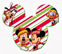 mickey heads with disney characters speciall for christmas