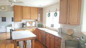 kitchen cabinet color honey update a kitchen w out painting oak cabinets growit buildit