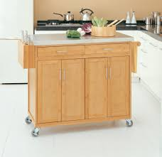 bamboo kitchen island stainless steel top decoration