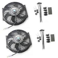10 inch radiator fan 2pcs 10 inch universal slim push pull electric radiator fan