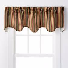 montego stripe lined scalloped valance products stripes and