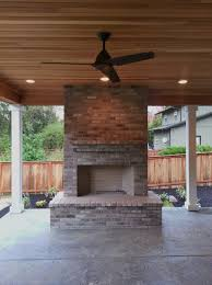 Outdoor Fireplace Chimney Height by Outdoor Fireplace Brick Gray Brick Outdoor Living Large