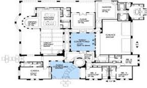 mediterranean floor plans with courtyard mediterranean small