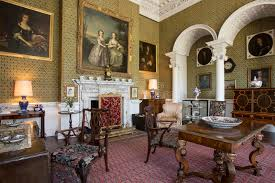stately home interior drawing room manor house editorial photo