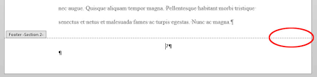 design header paper q how do i number pages differently in the various sections of my