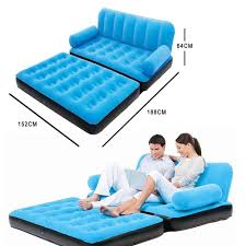 Air Mattress Sleeper Sofa Inflatable Daybed Lounger Airbed Pull Out Sofa Couch U0026 Full Double
