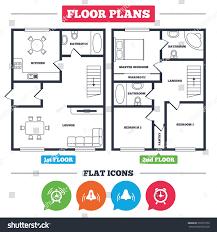 up house floor plan architecture plan furniture house floor plan stock vector