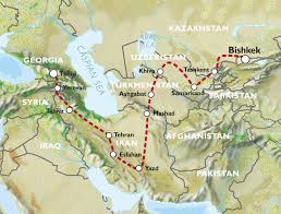 Caucasus Mountains World Map by Tbilisi To Bishkek 42 Days Caucasus To Kyrgyzstan