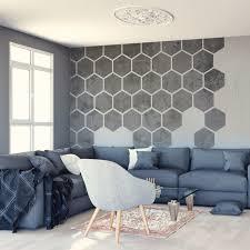 papier peint bureau removable concrete honeycombs self adhesive wall decal concrete