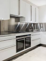 stainless steel kitchen furniture best 25 stainless steel splashback ideas on stainless