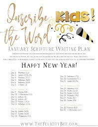 inscribe the word kids january scripture writing plan
