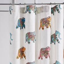 elephant parade shower curtain pier 1 imports