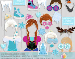 Photo Booth Props For Sale Frozen Photo Booth Etsy