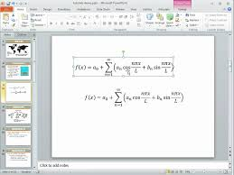 how to use the equation editor in powerpoint 2010 youtube