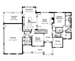 Bath Floor Plans Country Style House Plan 4 Beds 2 5 Baths 2776 Sq Ft Plan 46