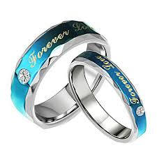 his and hers engagement rings forever blue ring 316l stainless steel jewelry his and