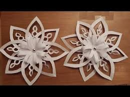 how to make beautiful paper decoration 3d snowflake for