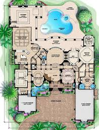 mediterranean house plans with pool valuable 5 mediterranean custom home floor plans houzz house