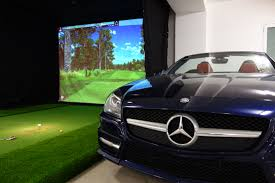 golf simulator home theater residential golf simulator